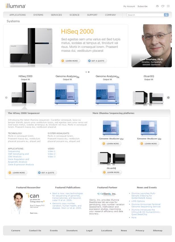 Illumina.com Systems Page